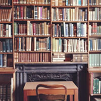 Image of the library room at Morrab Library in Penzance